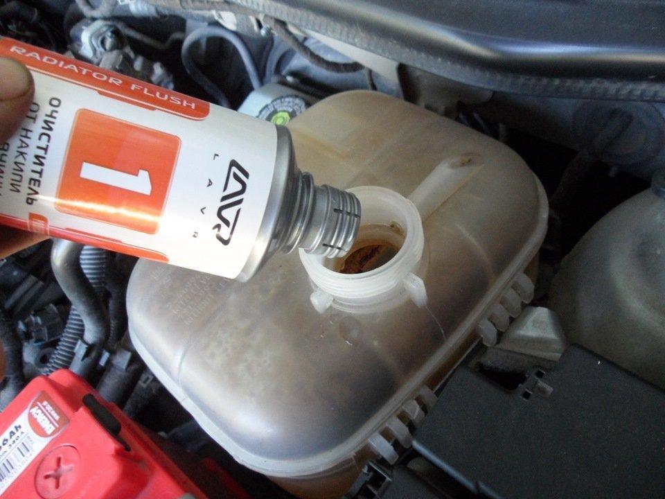 Промывка системы охлаждения авто