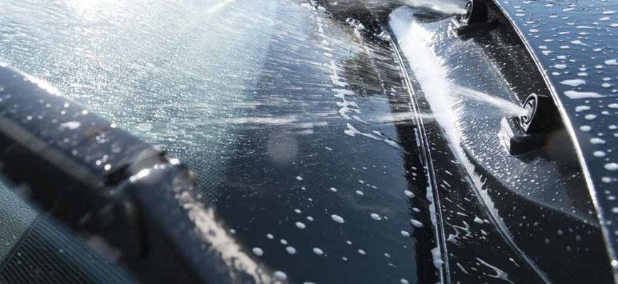 Очистка системы стеклоомывателя автомобиля