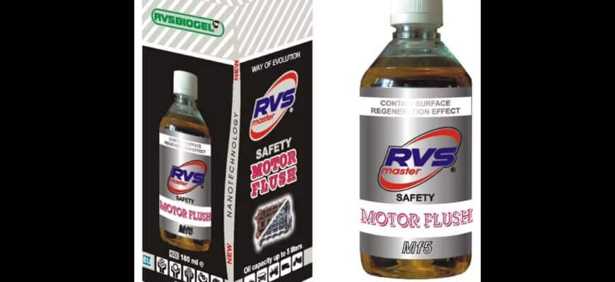 Промывка автомобильных двигателей составом RVS MF5